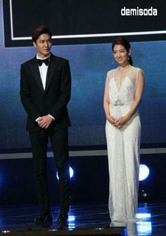 Lee Min Hoo and Park Shin Hye at 51'st Baeksang Arts Awards 05/26/2015