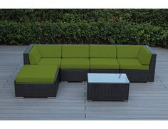 Kiara 6 Piece Wicker Outer Frame Deep Seating Group with Cushion with Price : $ 1389.99
