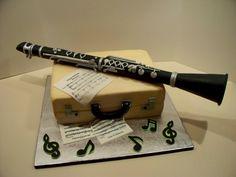 Clarinet Cake cakepins.com