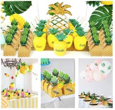 OurWarm Hawaiian Pineapple Party Candy Boxes Hawaiian Party Decorations Sweets and Candy Paper Box Decorative Gift Box From Touchy Style Outfit Accessories ( Multi / ) Hawaiian Party Decorations, Bachelorette Party Decorations, Birthday Party Decorations, Party Favors, Party Themes, Pineapple Decorations, Birthday Favors, 9th Birthday, Party Ideas