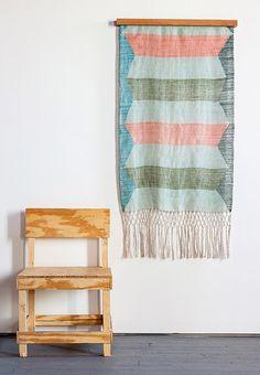 How gorgeous is weaver Rachel Duvall's Seafoam Linen Wall Hanging?