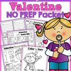 This NO PREP Packet for Valentine's Day has a lot of FUN and engaging activities that meet Common Core Standards!  There is NO PREP, no need to lam...