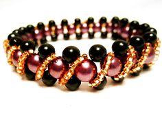 Free pattern for beaded bracelet Pamela   Beads Magic