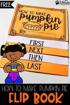 This free flip book is the perfect way to let your students work on expository writing this fall. The transition words are clearly stated at the bottom of each page to help your students logically organize their thoughts into sequential order. Keywords: Fall, Halloween, Thanksgiving, Pumpkin Pie, Fall Writing, Autumn, How to writing, expository writing for the primary grades, informative writing
