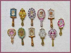 Very pretty, odd earrings could work well to copy