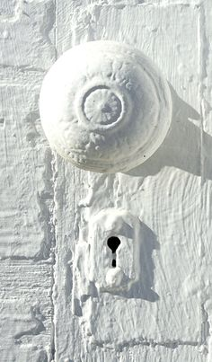 Our new 103 year old cottage has some lovely fittings that are covered in thick paint like this - I could cry!