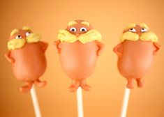 The Lorax Cake Pops Would Make Dr. Seuss Proud - foodista.com