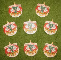 8  Vintage German Breweriana Paper Bottle Hangers by PuppyLuckArt (Home & Living, Kitchen & Dining, Drink & Barware, Barware, vintage, breweriana, paper, bottle hangers, carlsberg brewery, Tuborg, beer, mancave, barware, coaster, German, Christmas, julen)