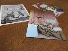 """Postkarten Holger Zimmermann, vorne: """"Eierkartons"""" 2009, Fotografie"""