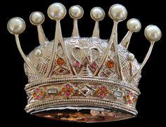 Royal King Crown Cross HIP HOP Blue Rhinestones Fashion Silver Men Belt Buckle