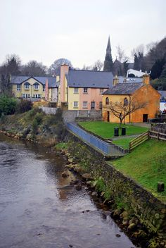 My girlfriend at the time; no fiancee came to visit over my winter break in Europe. One of our many stops was Ireland. We took a bus tour and wandered away from the group to explore the charming town of Avoca, Ireland where we had the best stew and fish & chips of our lives!!! #wanderingsole