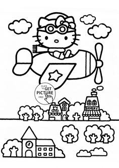 Hello Kitty Graduation Coloring Pages