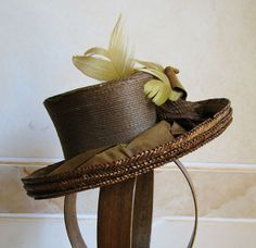 1888 side - Straw hat with ribbons and feathers. ____ (translated from Italian by Google)