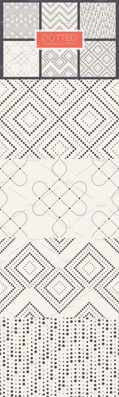 Dotted Seamless Patterns. Set 2. Patterns