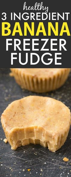 Healthy 3 Ingredient Banana Fudge Cups- Smooth, creamy and melt-in-your mouth fudge which takes minutes and has NO dairy, butter or sugar, but you'd never tell- A delicious snack or dessert! {vegan, gluten free, paleo recipe}- thebigmansworld.com