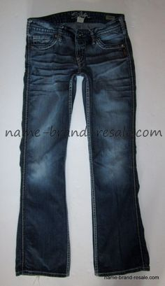 SILVER JEANS LOLA FLARE Womens 31 x 31 RIPPED DISTRESSED Thick ...