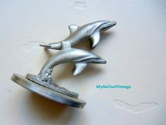 Vintage Spoontiques Pewter Dolphin Figurine by WylieOwlVintage, $7.00