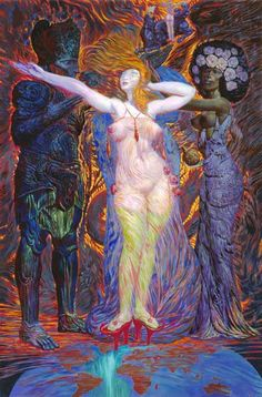 "ernst fuchs- ""The dressing of Esther"""