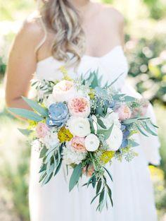 Beautiful bouquet: http://www.stylemepretty.com/little-black-book-blog/2015/04/23/industrial-italian-chicago-wedding/ | Photography: Clary Pfeiffer - http://www.claryphoto.com/
