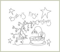 Baby's First Christmas - Embroidery
