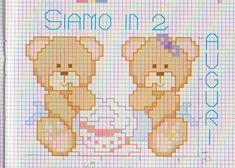ours en peluche jumeaux Cross Stitch Baby, Winnie The Pooh, Disney Characters, Fictional Characters, Punto De Cruz, Baby Things, Bears, Art, Needlepoint