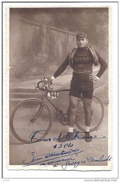 """SPORT Cyclisme Jean Martinet Tour De France 1924 Dedicassé """"en Souvenir à Georges Deulands(?)"""" - Cycling"""