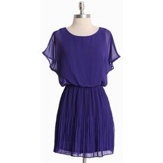 Old Towne Adventures Pleated Dress In Indigo - Polyvore