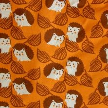 Cute Hedgehogs Organic Cotton Lycra Knit Fabric by Mussukat
