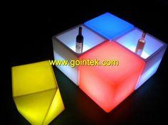 LED Cube Stool,3d Color LED Cube