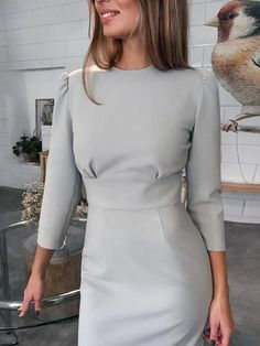 20+ Chic Outfit Ideas for Work ⋆ Cocktails and Code. Classy Dress, Classy Outfits, Chic Outfits, Dress Outfits, Sweater Dresses, Chic Dress, Girly Outfits, Simple Dresses, Elegant Dresses