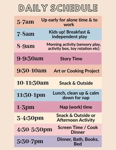 Daily Toddler Schedule To Try During Quarantine - The Mama Notes