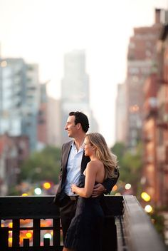 beautiful engagement session in new york city