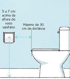 Veja aqui mais medidas importantes na construção e reforma do seu banheiro!