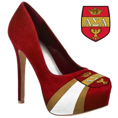 Alpha Sigma Alpha Sorority High Heel Shoe Footwear Microsuede Pumps Kappa c408e736c495