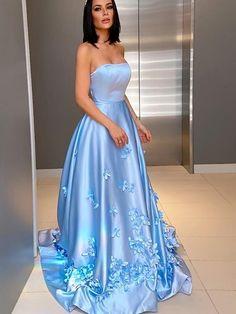 Elegant strapless formal long evening dresses formal prom dresses uh415