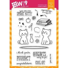 WPlus9 Design Stamps - Smart Kitty CL-WP9SK