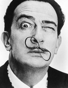 1954: Salvador Dali's infinite moustache. Photo by Philipe Halsman
