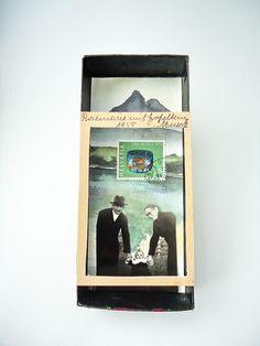 """mano k., art box nr 141, 20.may 2012  """"rosemarie mit großeltern meseck in der schweiz"""" - weg!"""