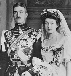 Crown Prince Gustaf VI Adolf and Crown Princess Margaret of Sweden at their wedding on 15th June 1905