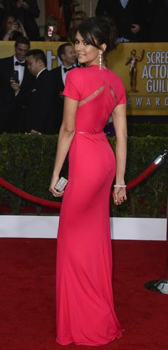 Favourite Celebrity Gown At The SAG Awards: Nina Dobrev - My Fash Avenue