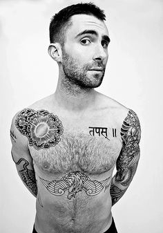 Adam Levine Shares His True Love Tattoo Ideas Artists Adam Levine Music And Ink Tattoo Life An Exhaustive Taxonomy Of Adam Levine S Tattoos The Boy With A Tiger Tattoo Maroon 5 Adam Levine Adam Levine Tattoos, Sexy Tattoos, Cool Tattoos, Tatoos, Awesome Tattoos, Beautiful Tattoos, Maroon 5, Beautiful Men, Beautiful People