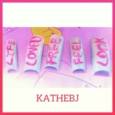 #letter #sweet #diseño #design  #uñas #nails  #KATHEBJ ✔