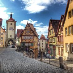 Rothenburg ob der Tauber, Germany.  Pretty place worth a days visit