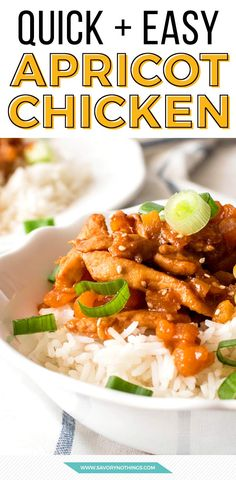If you're looking for a quick and delicious homemade dinner recipe, your search is done here. This apricot chicken is super easy, tastes better than Chinese takeout and needs to go on your dinner rotation right NOW!