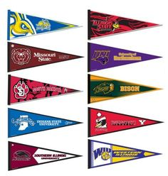 Missouri Valley Conference College Pennant Set by College Flags and Banners Co., http://www.amazon.com/dp/B008J4CL9W/ref=cm_sw_r_pi_dp_X8-nrb18JVT7D