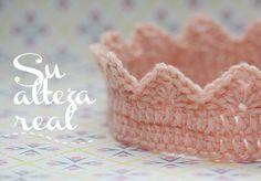 corona de ganchillo para una princesa