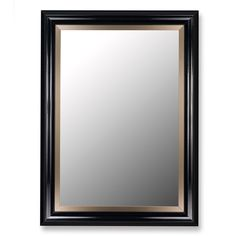 Glossy Black Grande and Champagne Wall Mirror