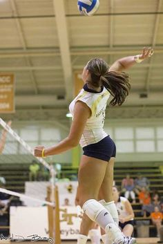 Volley Ball- she's doing it right. for volleyball you cant have super skinny legs because you need that muscle to jump