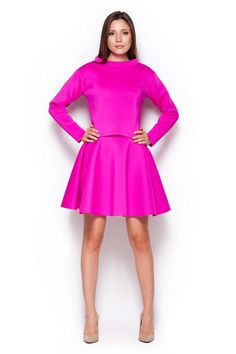 Girls' mini skirt in shades of fuchsia