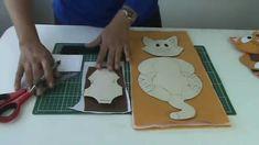 Porta - copo de gatinho Passo a passo com  Arte de Paninho